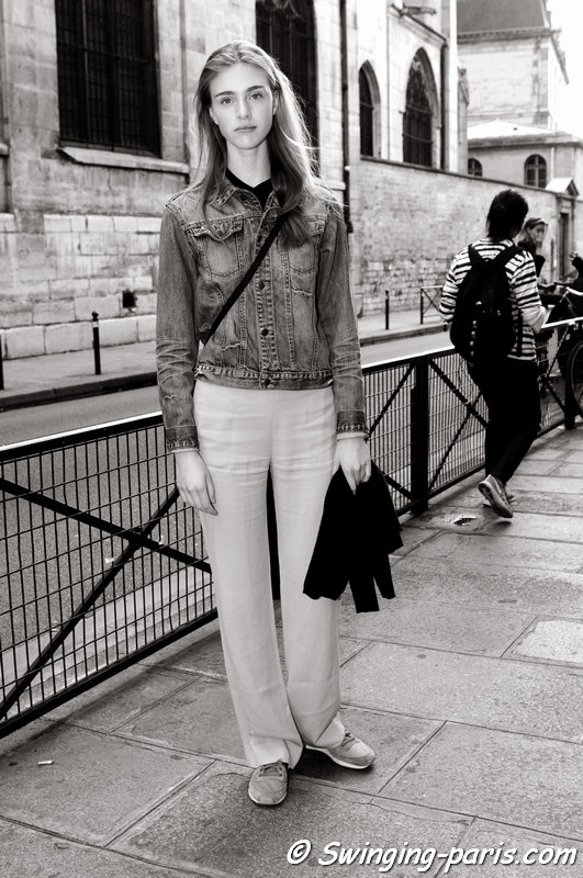 Hedvig Palm outside Bouchra Jarrar show, Paris Haute Couture F/W 2014 Fashion Week, July 2014