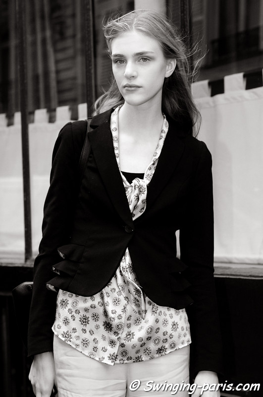 Hedvig Palm outside Balenciaga show, Paris S/S 2013 RtW Fashion Week, September 2012