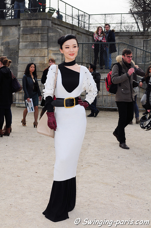 Huo Siyan (霍思燕) outside Guy Laroche show, Paris F/W RtW 2012 Fashion Week, February 2012