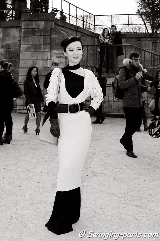 Huo Siyan () outside Guy Laroche show, Paris F/W RtW 2012 Fashion Week, February 2012
