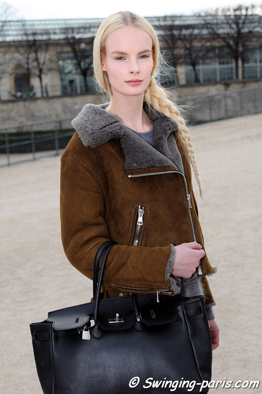 Irene Hiemstra leaving Valentino show, Paris F/W 2013 RtW Fashion Week, March 2013