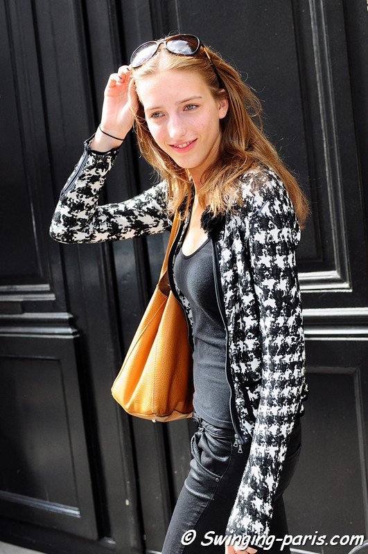 Iris Egbers outside Valentino show, Paris Haute Couture F/W Fashion Week, July 2011