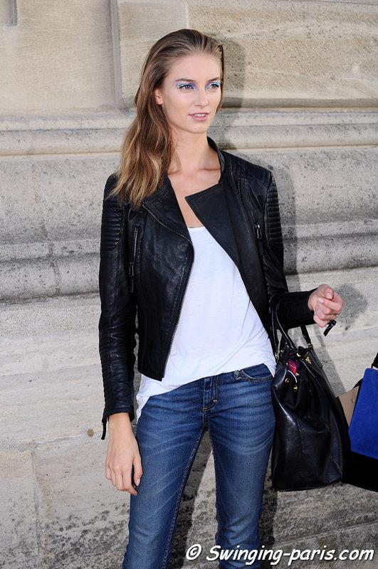Iris van Berne leaving Christian Dior show, Paris S/S 2013 RtW Fashion Week, September 2012