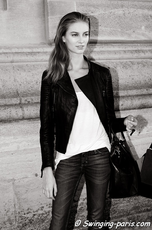 Iris van Berne leaving Christian Dior show, Paris S/S 2013 RtW Fashion Week, September 2012