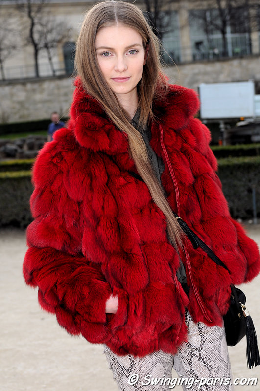 Iris van Berne leaving Valentino show, Paris F/W 2013 RtW Fashion Week, March 2013
