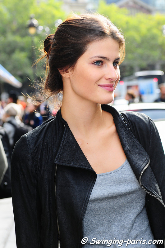 Isabeli Fontana after Balmain show
