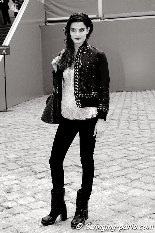 Isabeli Fontana leaving Louis Vuitton show, Paris F/W 2013 RtW Fashion Week, March 2013