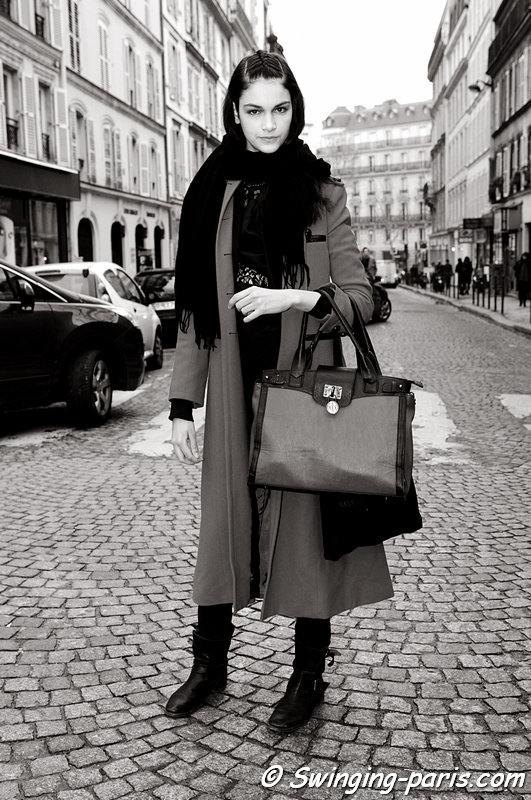 Isabella Melo outside Nicolas Andreas Taralis show, Paris F/W 2013 RtW Fashion Week, February 2013