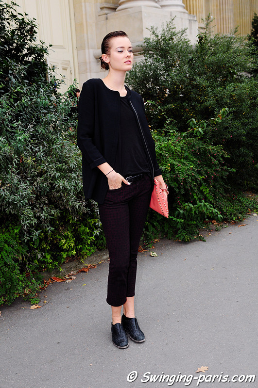 Jac (Monika Jagaciak) outside Chanel show, Paris S/S 2012 Fashion Week, September 2011