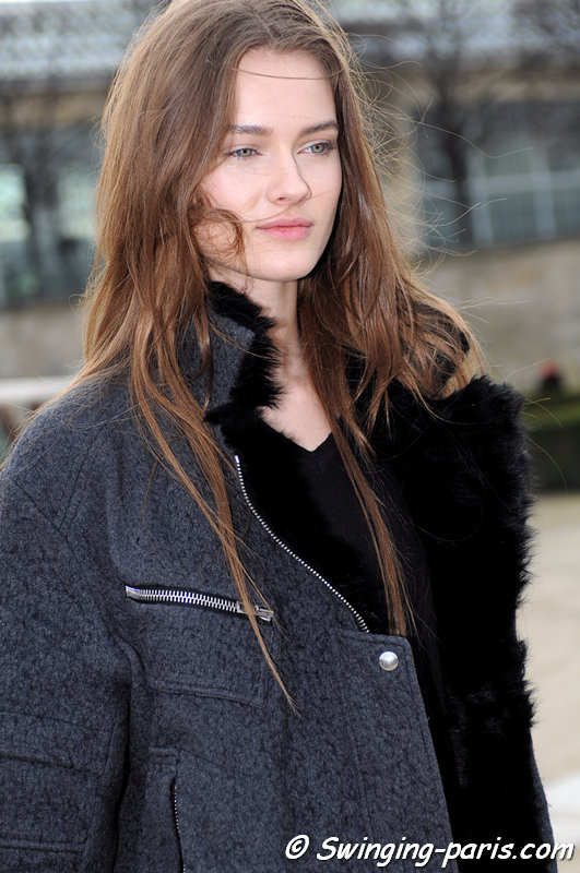 Jac (Monika Jagaciak) leaving Valentino show, Paris F/W 2013 RtW Fashion Week, March 2013