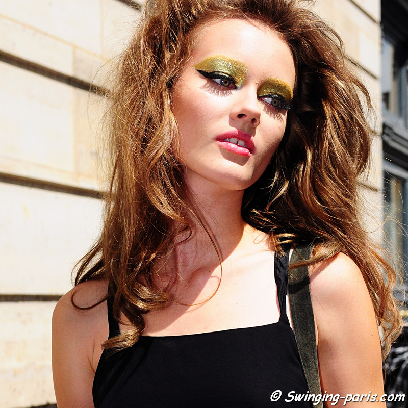 Jac (Monika Jagaciak) outside Christian Dior show, Paris Haute Couture F/W Fashion Week, July 2011