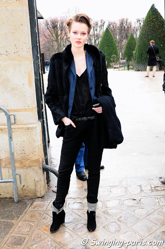 Jac (Monika Jagaciak) after Christian Dior show, Paris Fashion Week Spring 2011 Couture