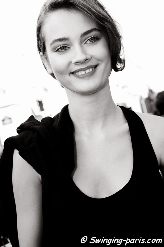 Jac (Monika Jagaciak) outside Christian Dior show, Paris S/S 2012 Fashion Week, September 2011