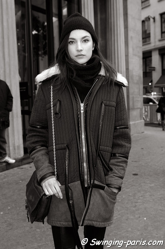 Jacquelyn Jablonski after Elie Saab show, Paris Haute Couture S/S 2013 Fashion Week, January 2013