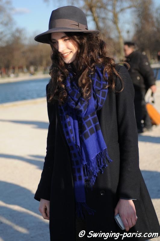 Jacquelyn Jablonski après un défilé Kenzo
