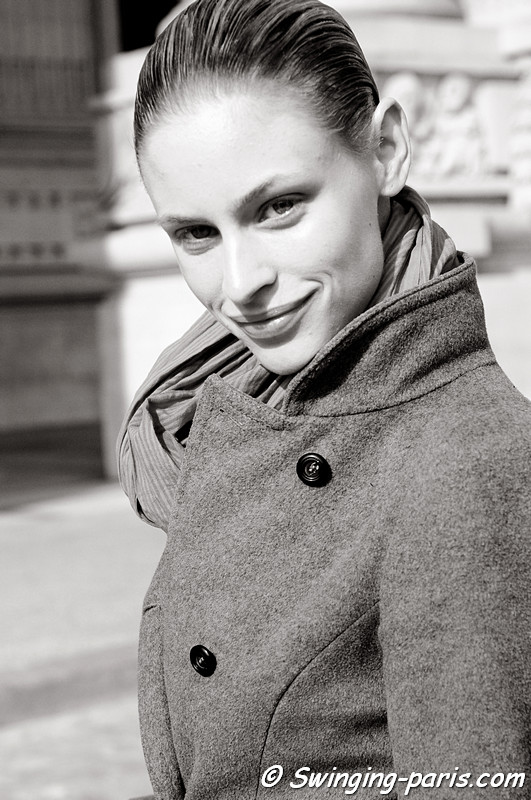 Jade Jackson after Damir Doma show, Paris Fashion Week, March 2011