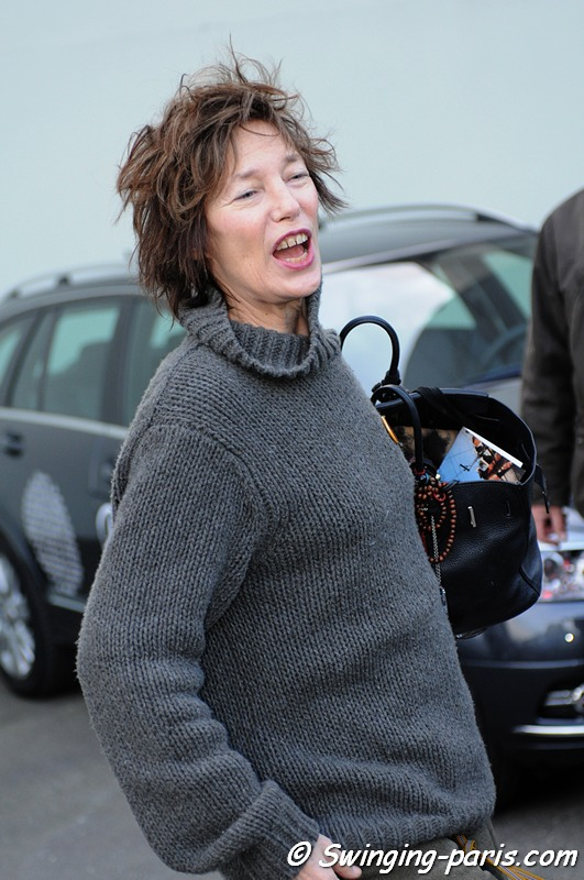 Jane Birkin just after a Hermès Show