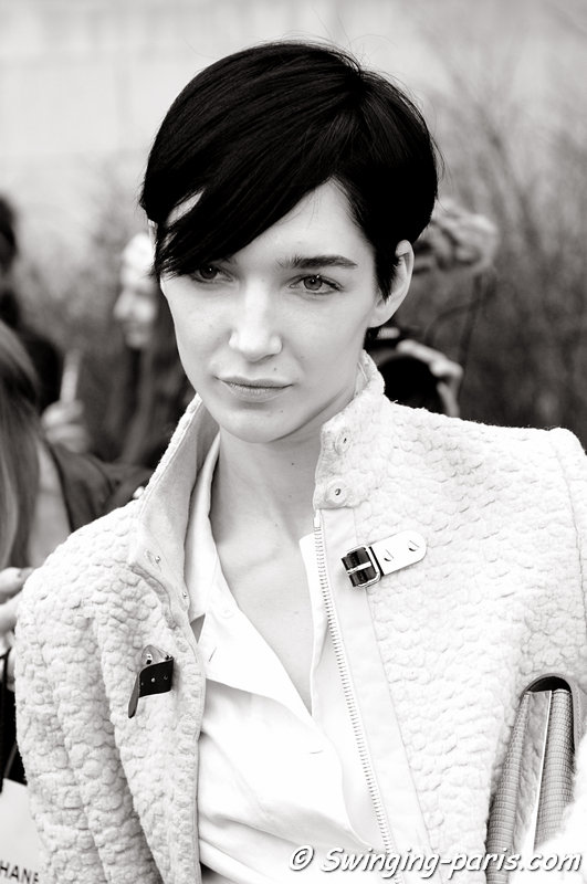 Janice Alida leaving Chanel show, Paris F/W 2013 RtW Fashion Week, March 2013