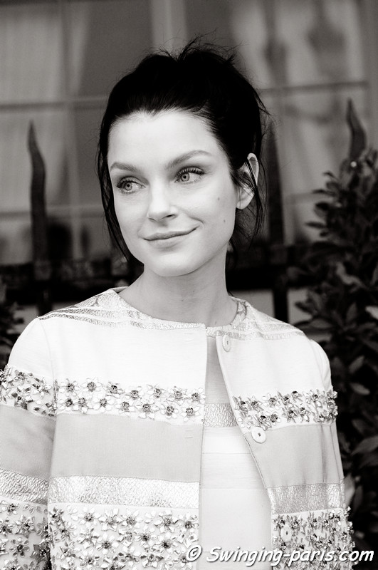Jessica Stam leaving Giambattista Valli show, Paris Haute Couture F/W 2012 Fashion Week, July 2012
