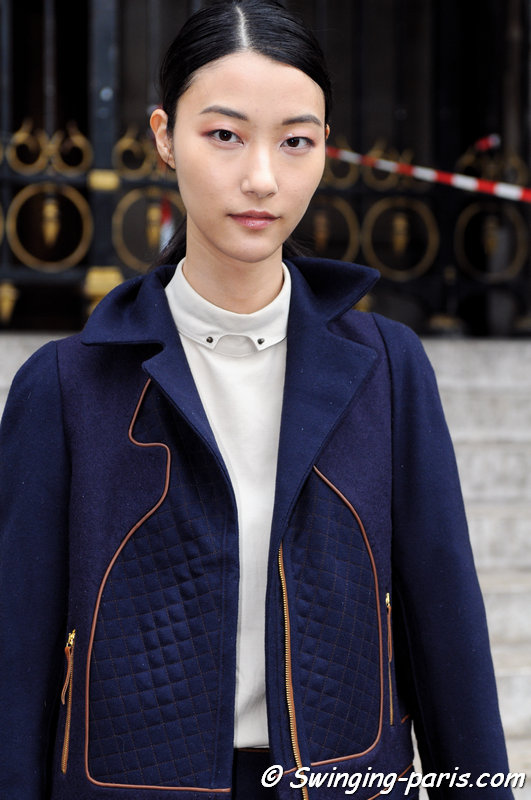 Ji Hye Park leaving Stella McCartney show, Paris S/S 2015 RtW Fashion Week, September 2014