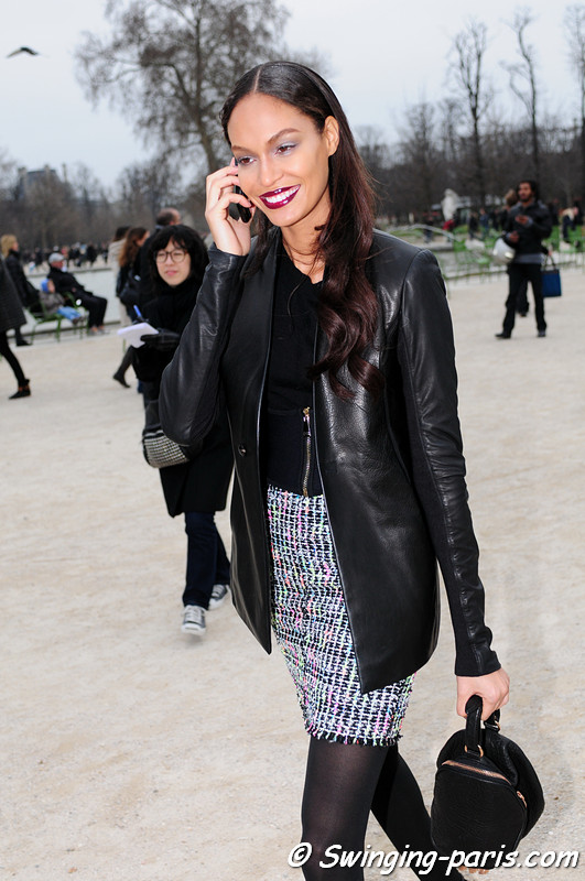 Joan Smalls outside Viktor &amp; Rolf show, Paris F/W RtW 2012 Fashion Week, March 2012