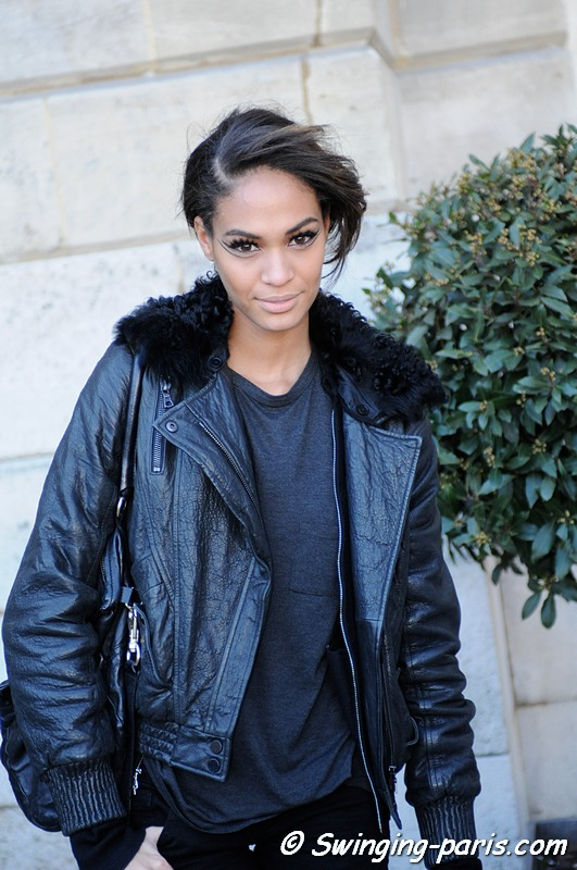 Joan Smalls after a Giambattista Valli show