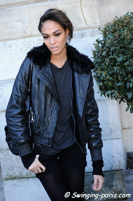 Joan Smalls after Giambattista Valli show