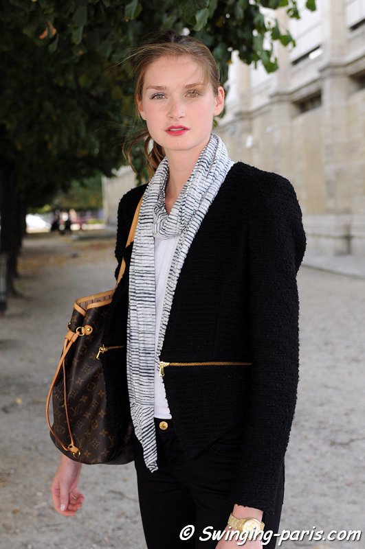 Johanna Gronholm outside Agnès B show, Paris S/S 2013 RtW Fashion Week, October 2012
