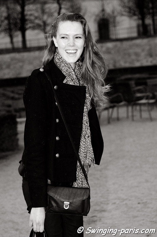 Josefien Rodermans outside John Galliano show, Paris F/W RtW 2012 Fashion Week, March 2012