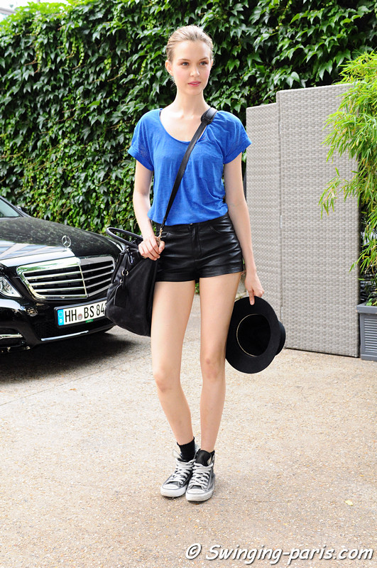 Josephine Skriver leaving Georges Hobeika show, Paris Haute Couture F/W 2012 Fashion Week, July 2012