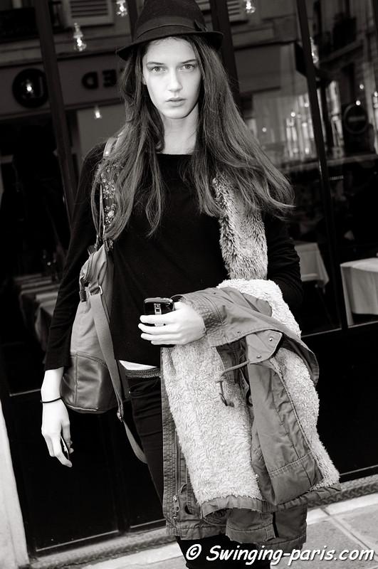 Josephine van Delden outside Balenciaga show, Paris S/S 2013 RtW Fashion Week, September 2012