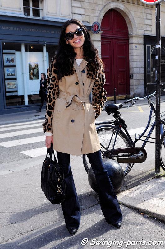 Juana Burga outside Allude show, Paris F/W 2014 RtW Fashion Week, March 2014