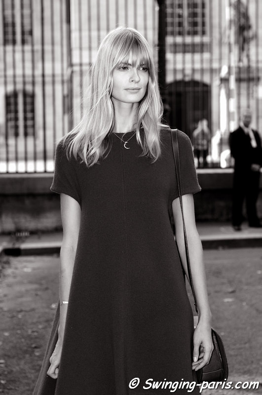 Julia Stegner outside Balenciaga show, Paris S/S 2014 RtW Fashion Week, September 2013