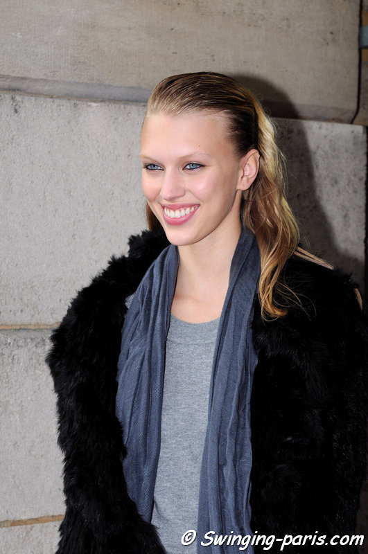 Juliana Schurig outside Roland Mouret show, Paris S/S 2014 RtW Fashion Week, September 2013