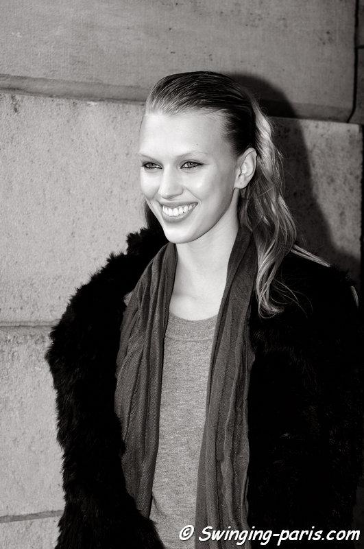 Juliana Schurig outside Roland Mouret show, Paris S/S 2014 RtW Fashion Week, September 2013