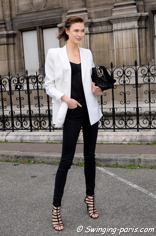 Karlie Kloss leaving Balmain show, Paris F/W 2013 RtW Fashion Week, February 2013