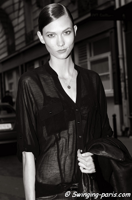 Karlie Kloss outside Christian Dior show, Paris F/W RtW 2012 Fashion Week, March 2012