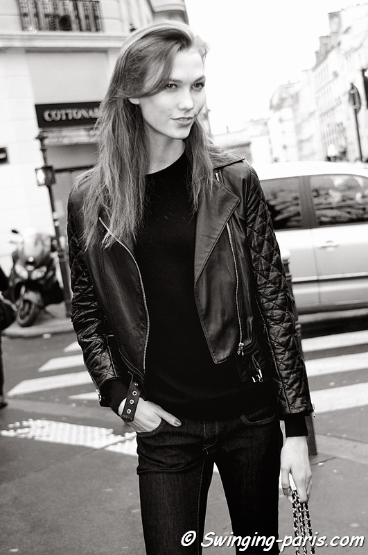 Karlie Kloss outside Jean Paul Gaultier show, Paris Haute Couture S/S 2012 Fashion Week, January 2012