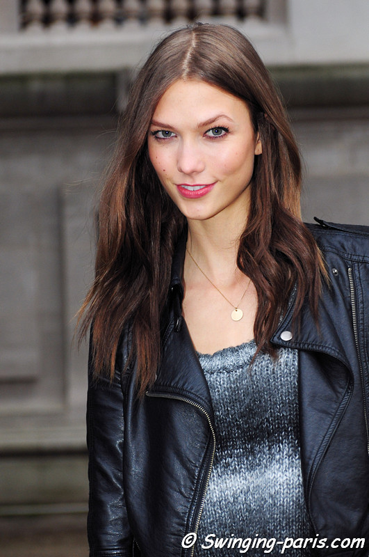 Karlie Kloss outside Paco Rabanne show, Paris F/W RtW 2012 Fashion Week, March 2012