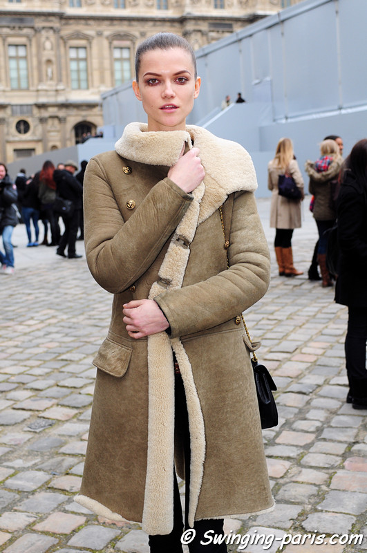 Kasia Struss leaving Louis Vuitton show, Paris F/W RtW 2012 Fashion Week, March 2012