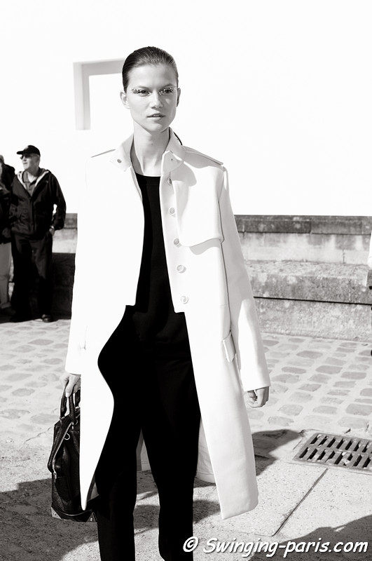 Kasia Struss leaving Christian Dior show, Paris S/S 2013 RtW Fashion Week, September 2012