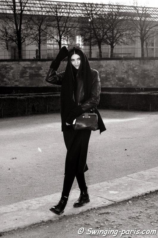 Kate Bogucharskaia leaving Elie Saab show, Paris F/W 2014 RtW Fashion Week, March 2014