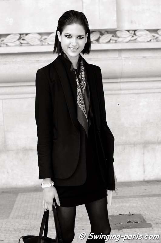 Kate Kondas outside Lonard show, Paris S/S 2013 RtW Fashion Week, October 2012