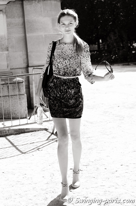 Kate Kosushkina after Carven show, Paris S/S 2012 Fashion Week, September 2011