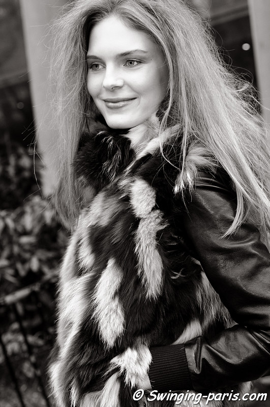 Kate Kosushkina after Junko Shimada show, Paris F/W RtW 2012 Fashion Week, March 2012