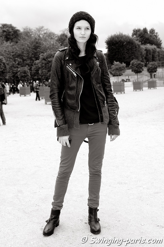 Katlin Aas outside Guy Laroche show, Paris S/S 2013 RtW Fashion Week, September 2012
