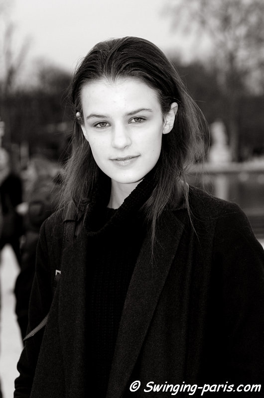 Kayley Chabot after Elie Saab show, Paris F/W 2013 RtW Fashion Week, March 2013