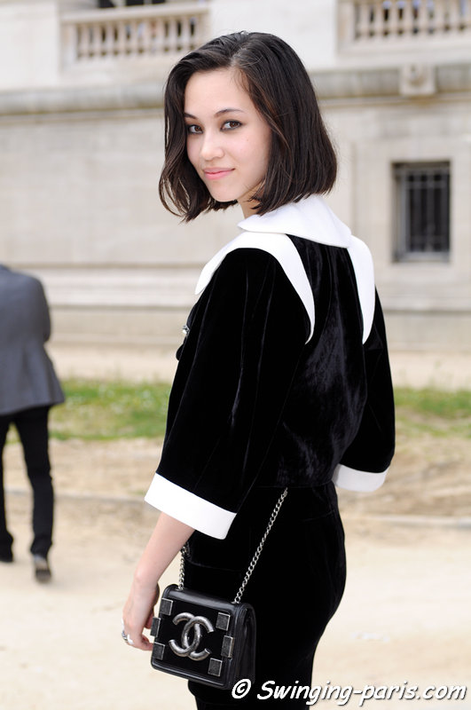 Kiko Mizuhara leaving Chanel show, Paris Haute Couture F/W 2013 Fashion Week, July 2013