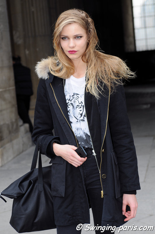 Kirstin Kragh Liljegren leaving Louis Vuitton show, Paris F/W 2013 RtW Fashion Week, March 2013
