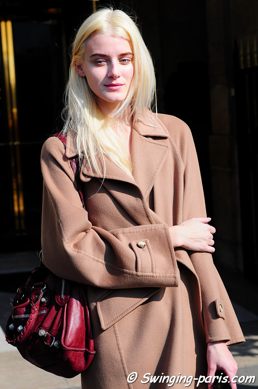 Kori Richardson outside Balenciaga show, Paris Fashion Week, March 2011
